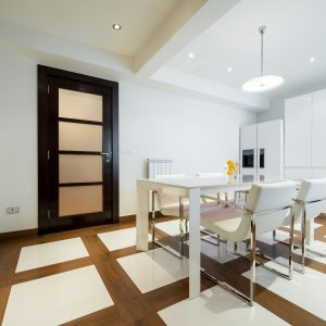 Specious white dining room interior